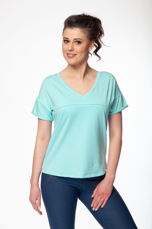 de8af2b03e Bluzka ciążowa i do karmienia M-Shirt V-neck miętowa Milk and Love ...