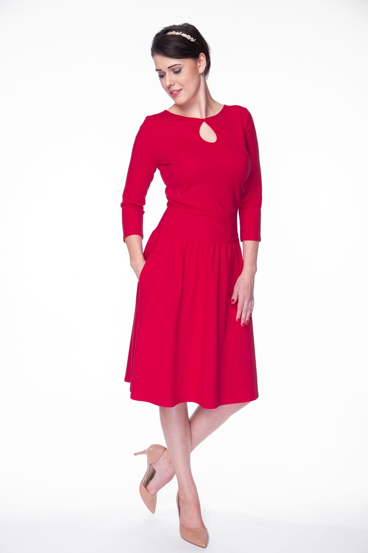 728d1a8ad3 Sukienka do karmienia Milk Drop MIDI rękaw 7 8 karminowa czerwień ...