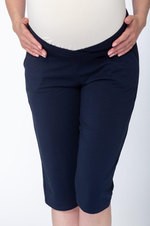 fa629233790274 Spodnie 3/4 ciążowe Night & Day - dół od piżamy granatowe Milk and ...