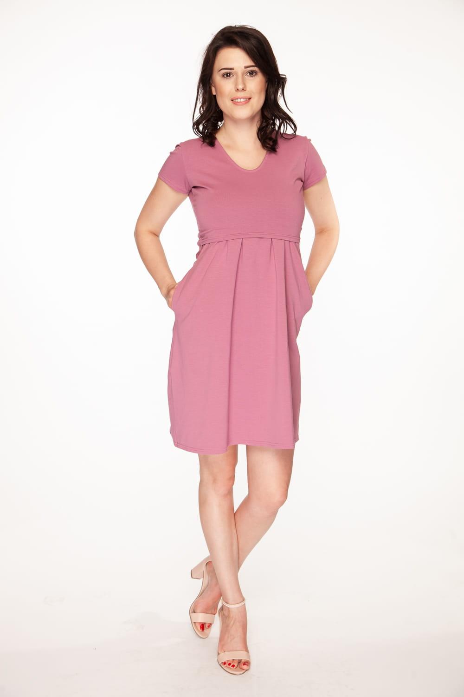 ebb9c40f63 Sukienka ciążowa i do karmienia Carry liliowa Milk and Love  odzież ...