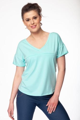 4d52ddabc6a55b Bluzka ciążowa i do karmienia M-Shirt V-neck miętowa Milk and Love ...