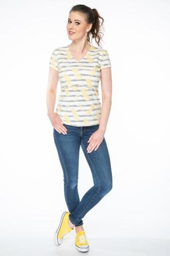 3563440f09d345 Bluzka do karmienia i ciążowa z krótkim rękawem Milk Shirt w paski i ananasy
